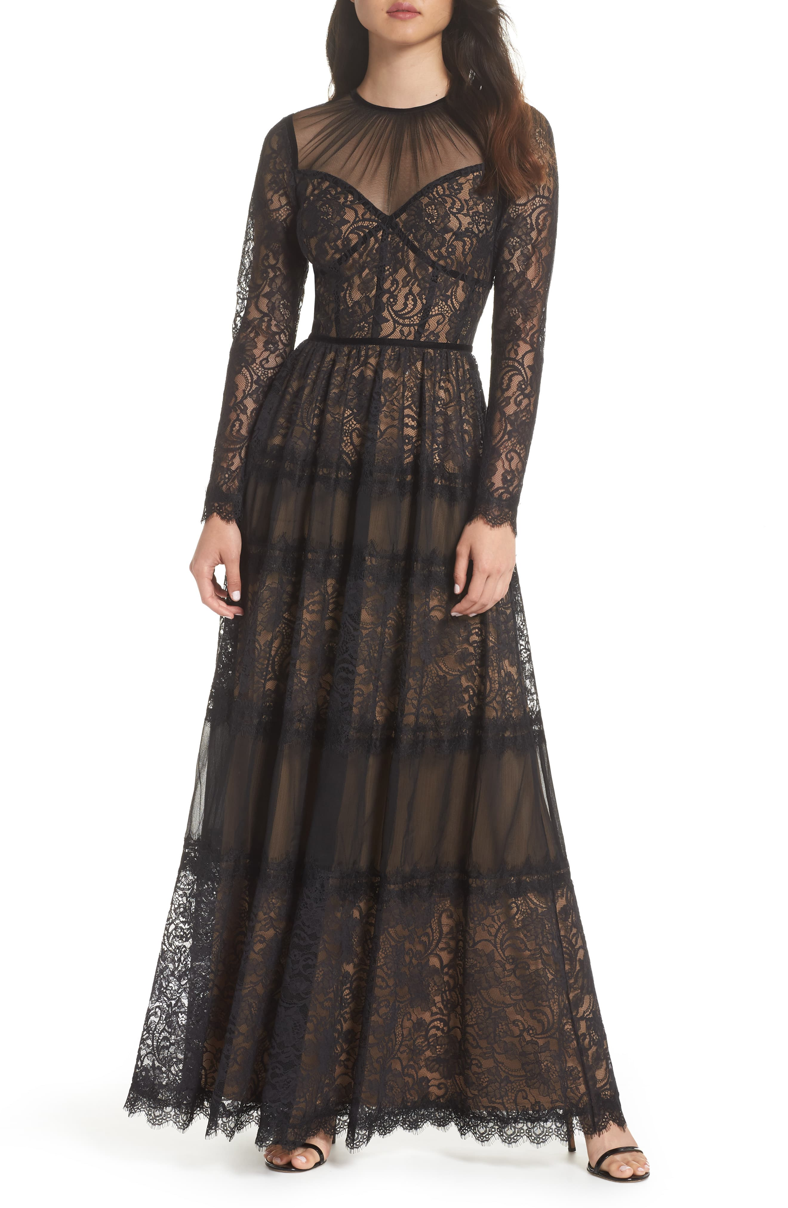 Tadashi Shoji Lace Gown In 2019 Products Lace Midi Dress