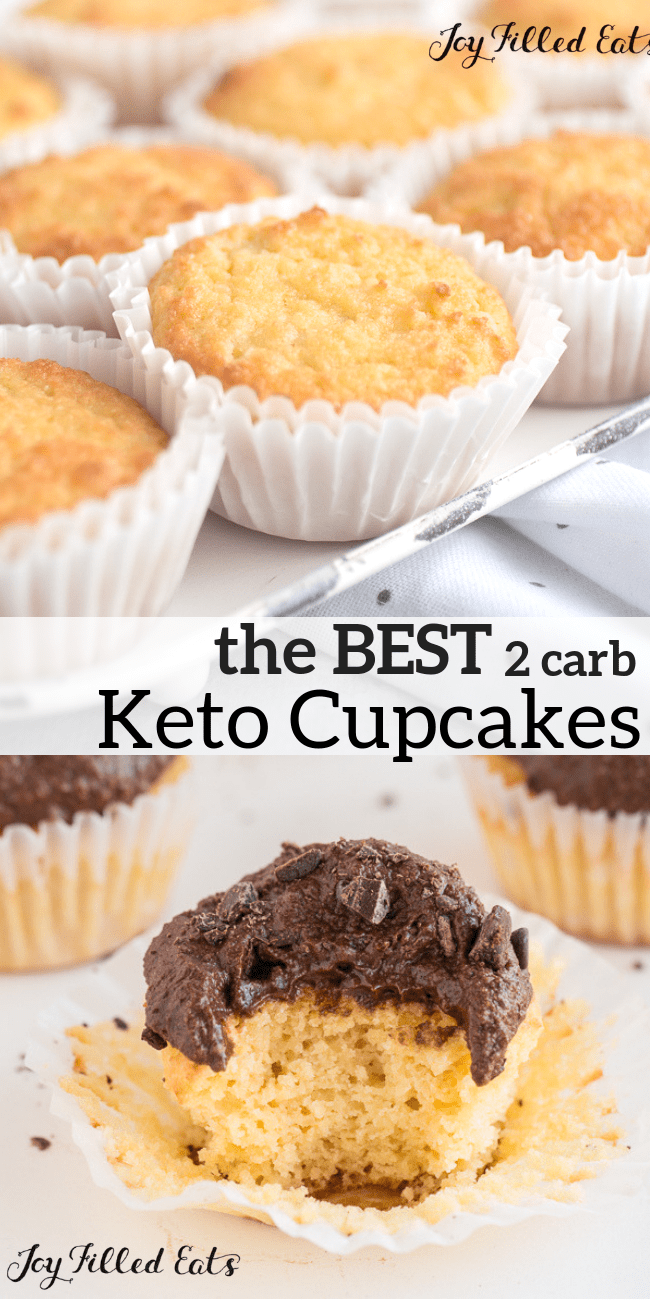 The Best Keto Cupcakes These Sour Cream Vanilla Cupcakes Are Perfect They Are Very Flavorful Moist And Are Only 2 Net Keto Cupcakes Cupcakes Keto Recepten