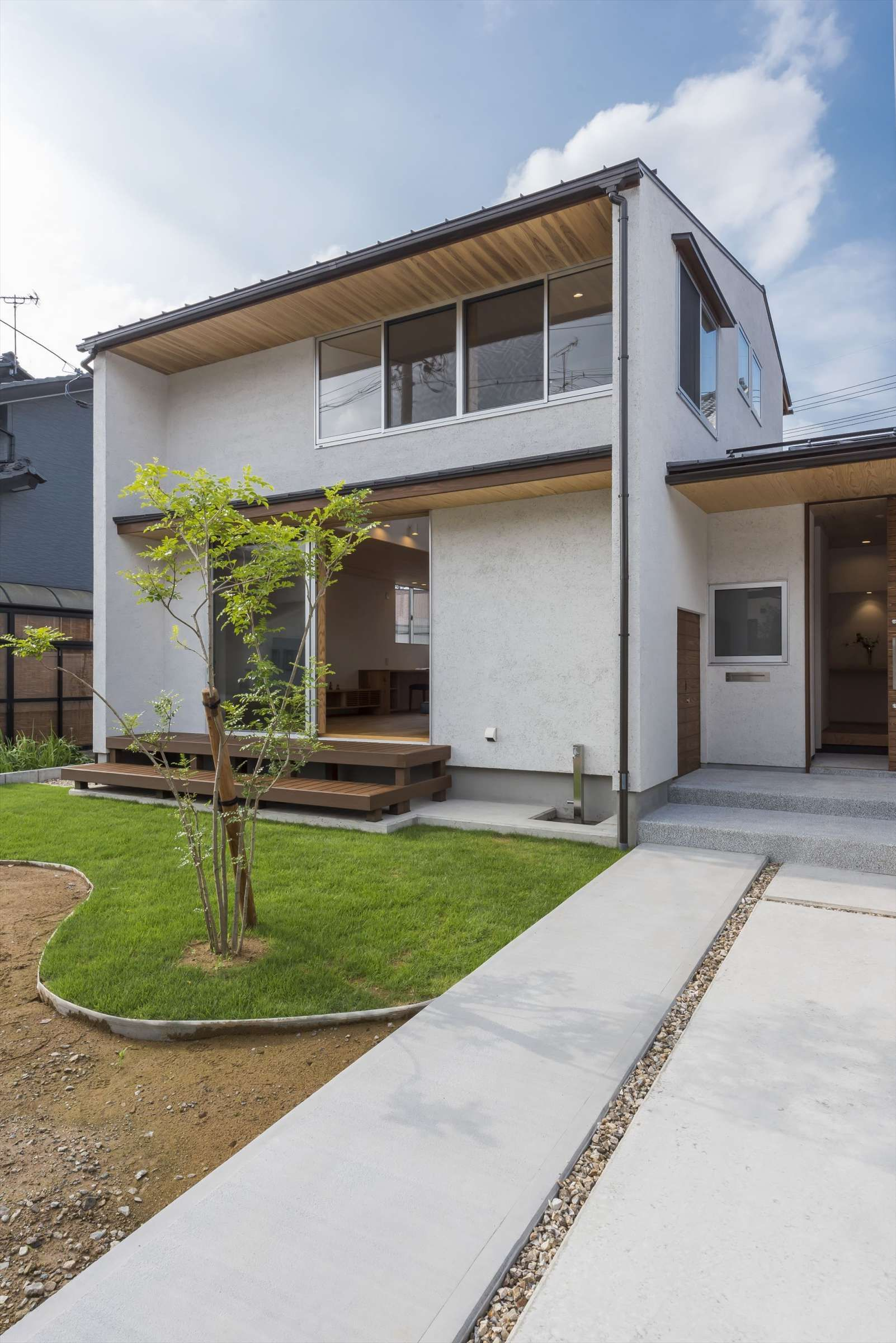 外観 住まい工房 建築実例 日本のモダンな家 狭小ハウスデザイン