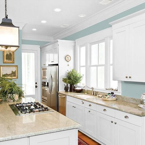 Blue Willow - PPG1145-4 #bluegreykitchens