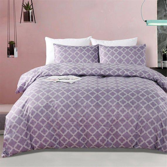 Photo of Geometric Duvet Cover Set Decorative Geometry Bedding Sets Simple Bedding Sets Stylish Bedding Micro