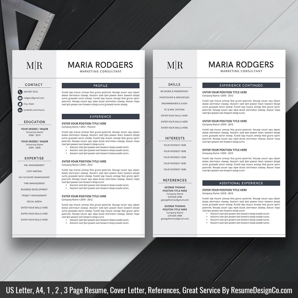 Stand Out Resume Templates Instant Download The Maria Resume  Icon Files Professional