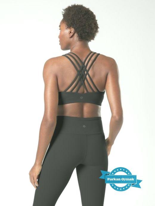 Athleta Women's D-Dd Hyper Focused Bra In Powervita™ Black  Regular Size S -