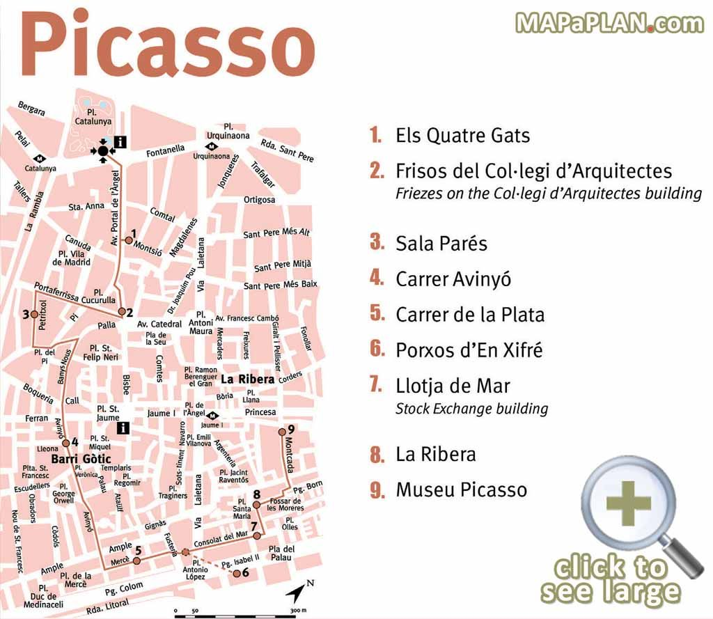 Picasso must do great landmarks one day walking tour itinerary ...