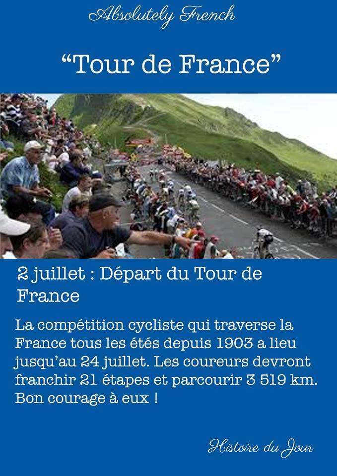 C'est le début du Le Tour de France ! #TourdeFrance #Histoiredujour #Encyclopédie #Histoiredujour #Histoire #Du #Jour #Quotidienne #Daily #Story #School #Learn #Absolutely #French