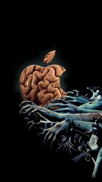 Iphone 7 Wallpapers The Walking Dead Zombie Brains Iphone 7