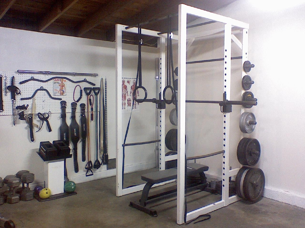 Home gym fitness pinterest weight rack and