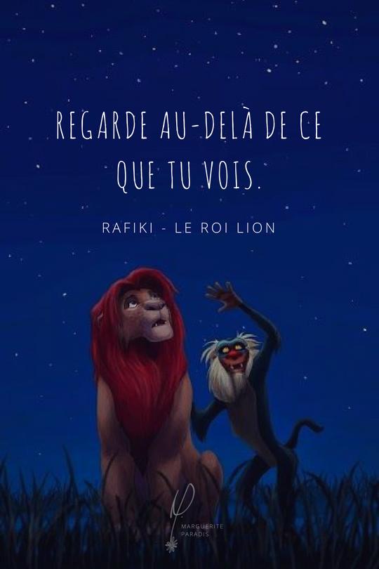 Rafiki Le Roi Lion Regarde Au Delà De Ce Que Tu Vois Le