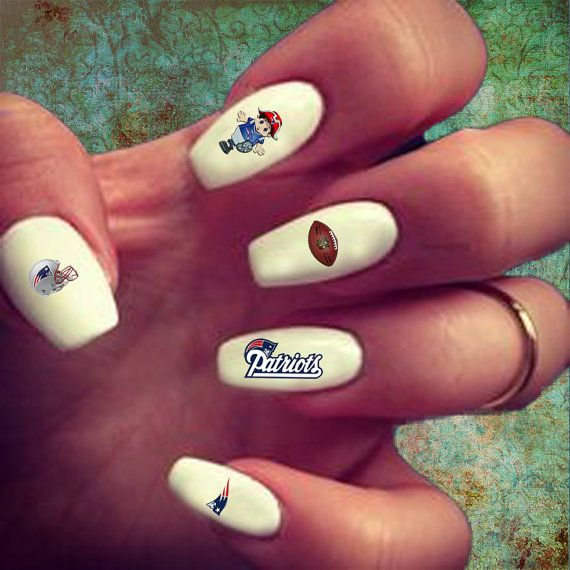 50 New England Patriots Nail Decals by MagnoliaLayneDesigns ...