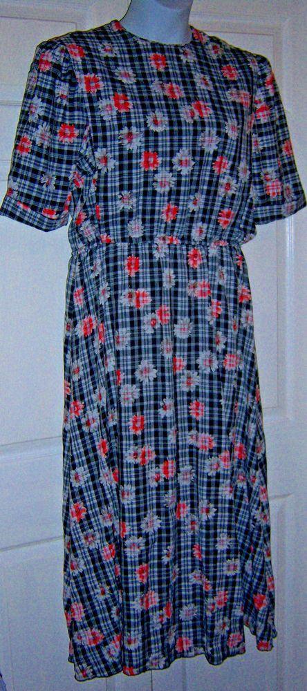 "Mennonite Womens Cape Dress Modest Handmade 42"" Bust /to 40"" Waist Home Made #Handmade #CapeattachedFrontBackModestShiftCountryFarmDressHouseDress #Casualeverydayhousedress"