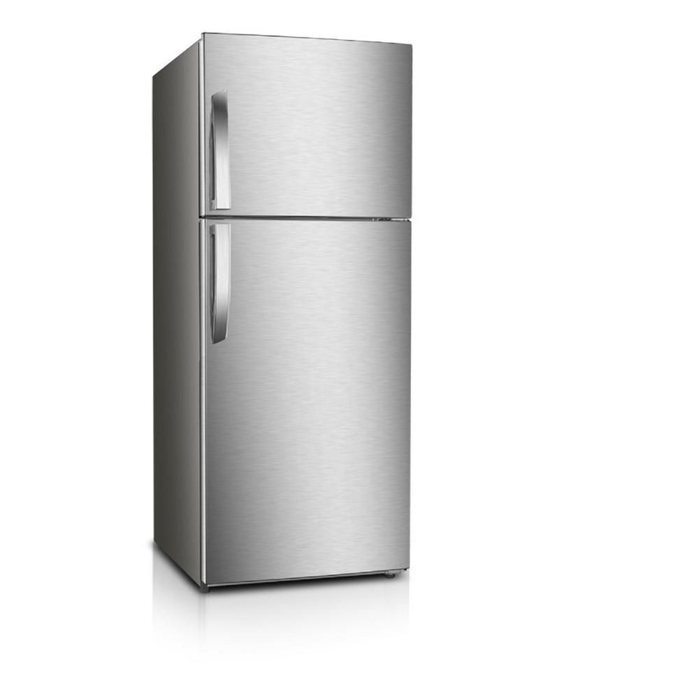 Premium 12 Cu Ft Frost Free Top Freezer Refrigerator In Stainless Steel Prn12260hs The Home Depot Top Freezer Refrigerator Stainless Steel Refrigerator Refrigerator