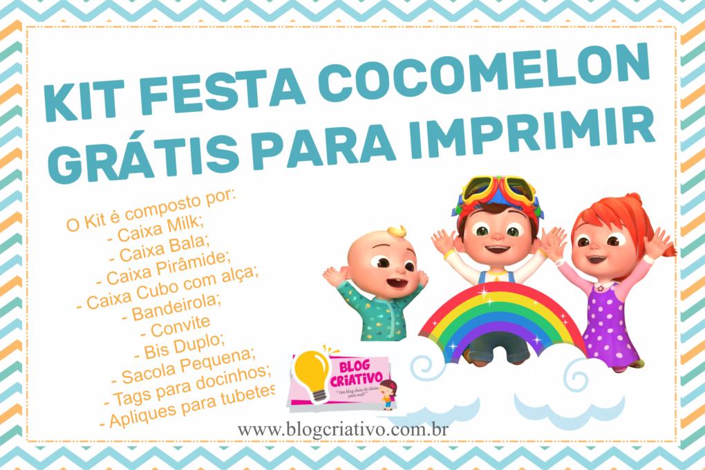 Kit Festa Cocomelon Menino Gratis Para Imprimir Em 2020 Kit Festa Festa Decoracao Festa Infantil Simples
