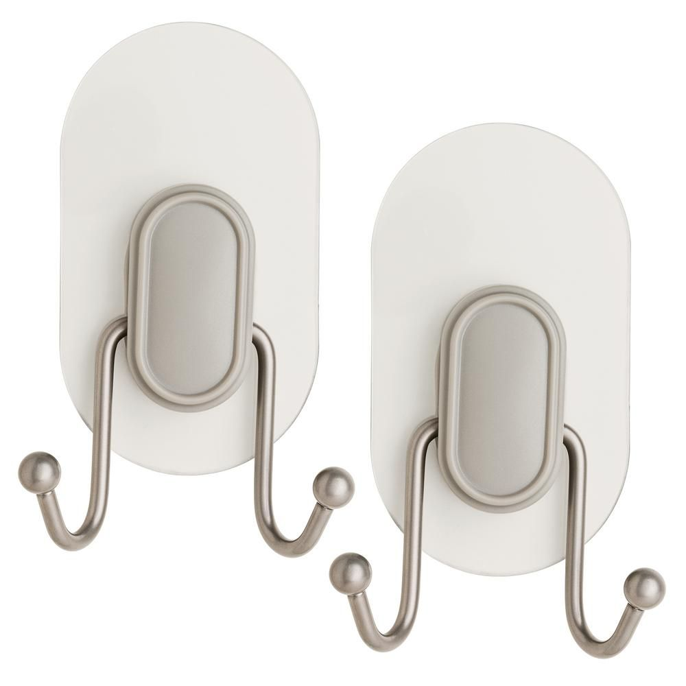 Franklin Brass Double Prong Towel Hook With Clear Incredigrip Pads
