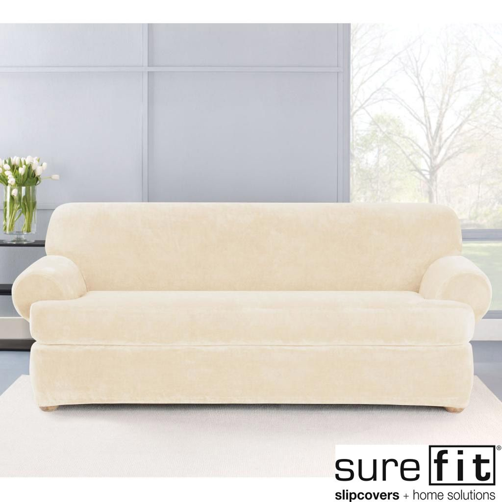 Use this stretch sofa slipcover to give your living space a new