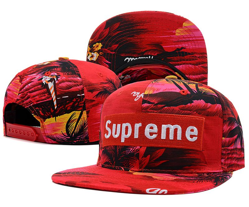 Supreme Hawaii Style Beach Life Snapback Caps Red - pop snapback Supreme  Cap 56b41f5c6c3