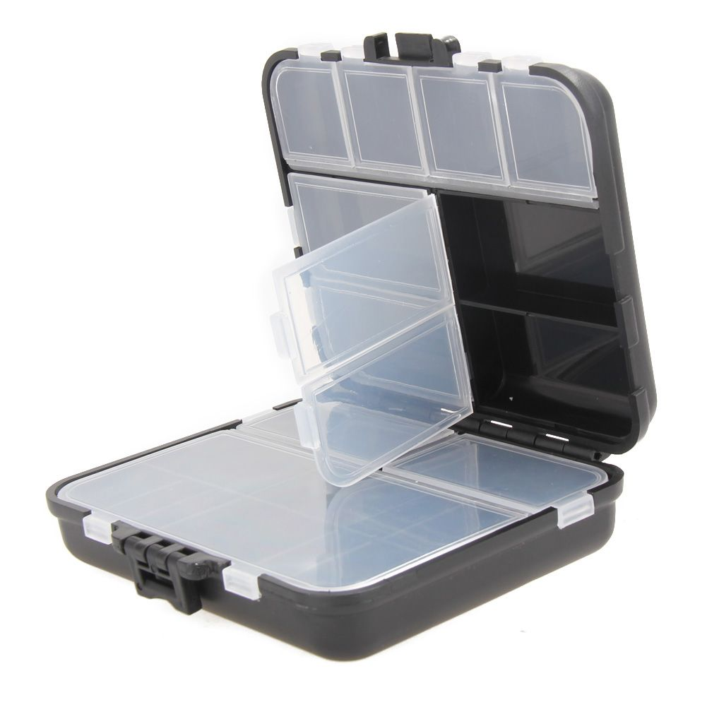 Waterproof Fishing Lure Bait Hook Tackle Storage Box Case Compartments Plastic