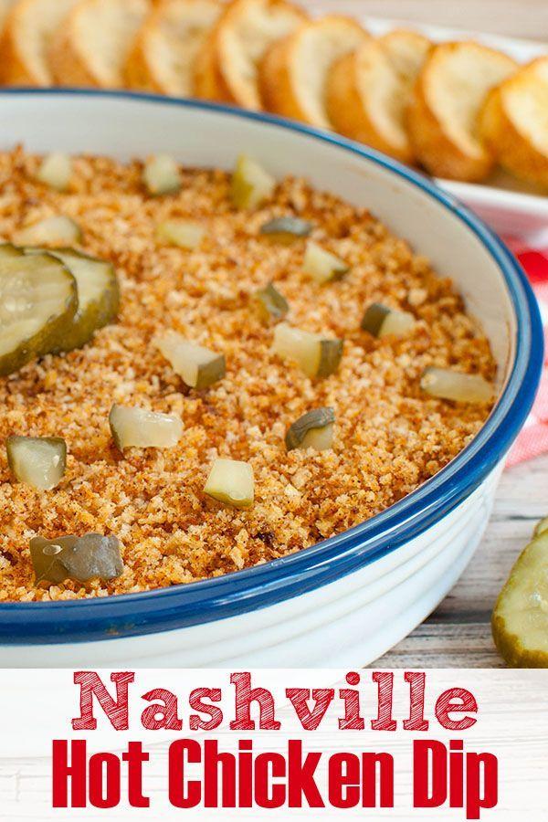 Nashville Hot Chicken Dip -  Fun twist on Nashville Chicken makes an easy appetizer recipe.  A spic
