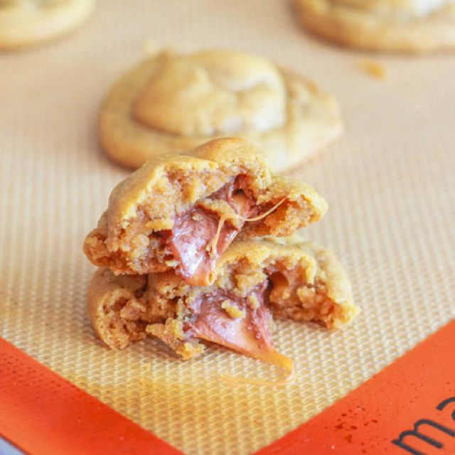 Rolo stuffed pb cookies