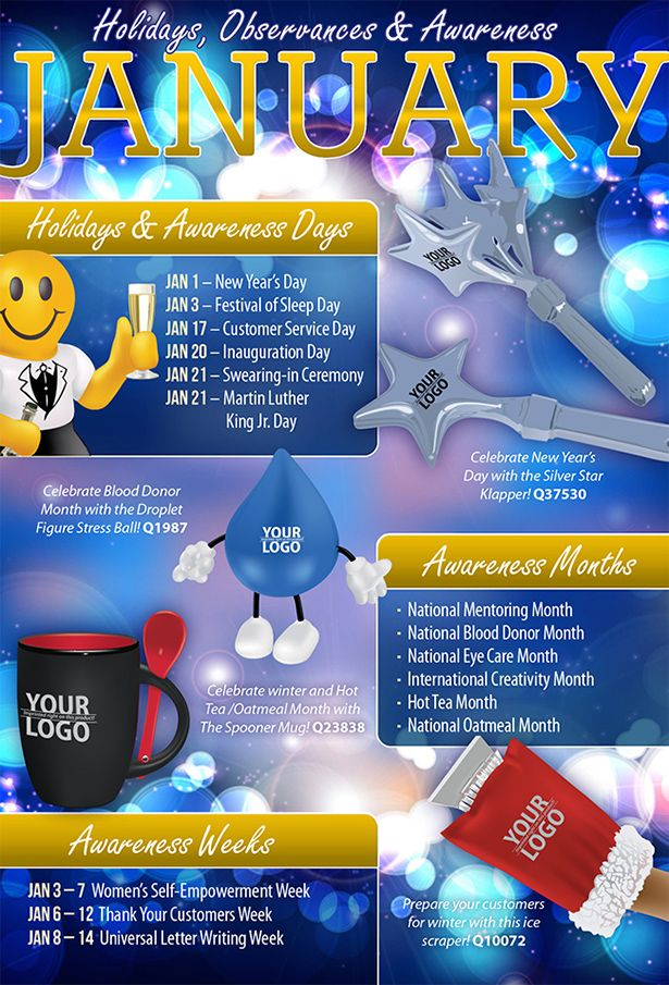 January 2013 Holidays, Observances, and Awareness Dates