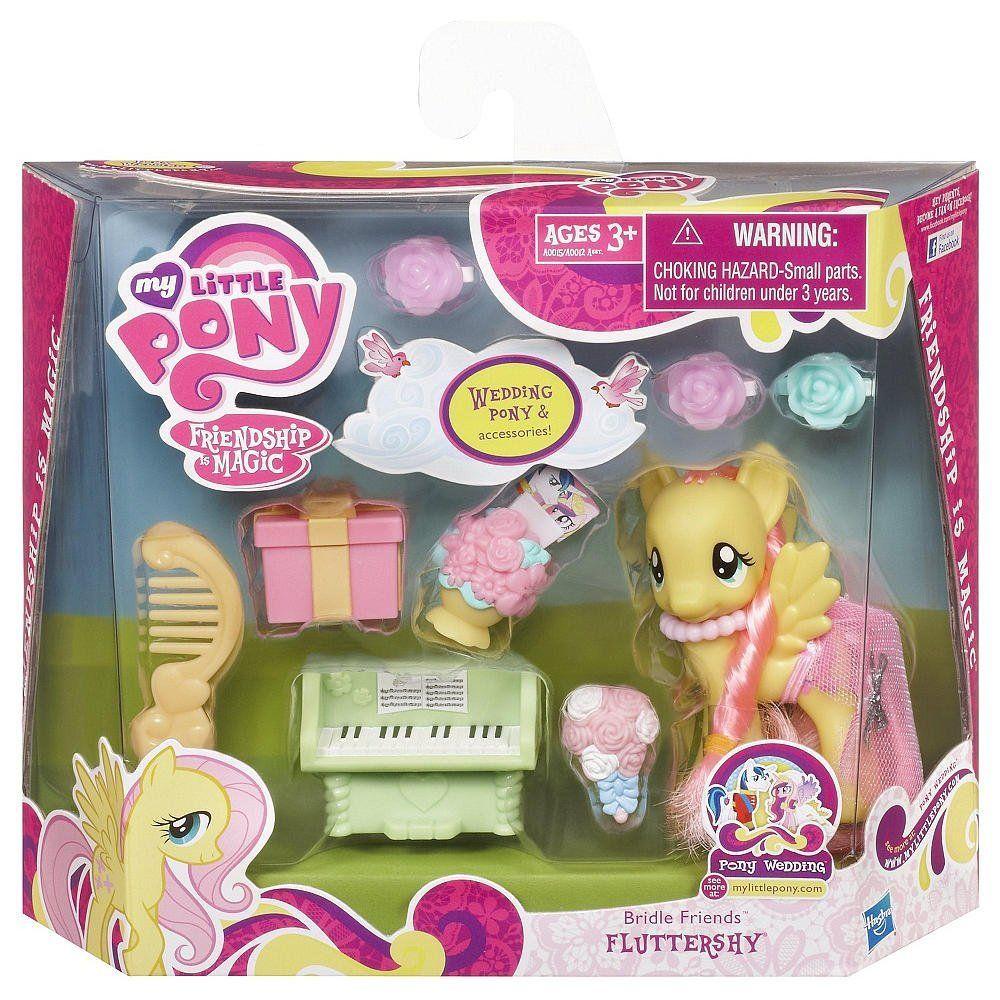 Amazon com my little pony friendship is magic bridesmaid pony figure playset fluttershy toys games