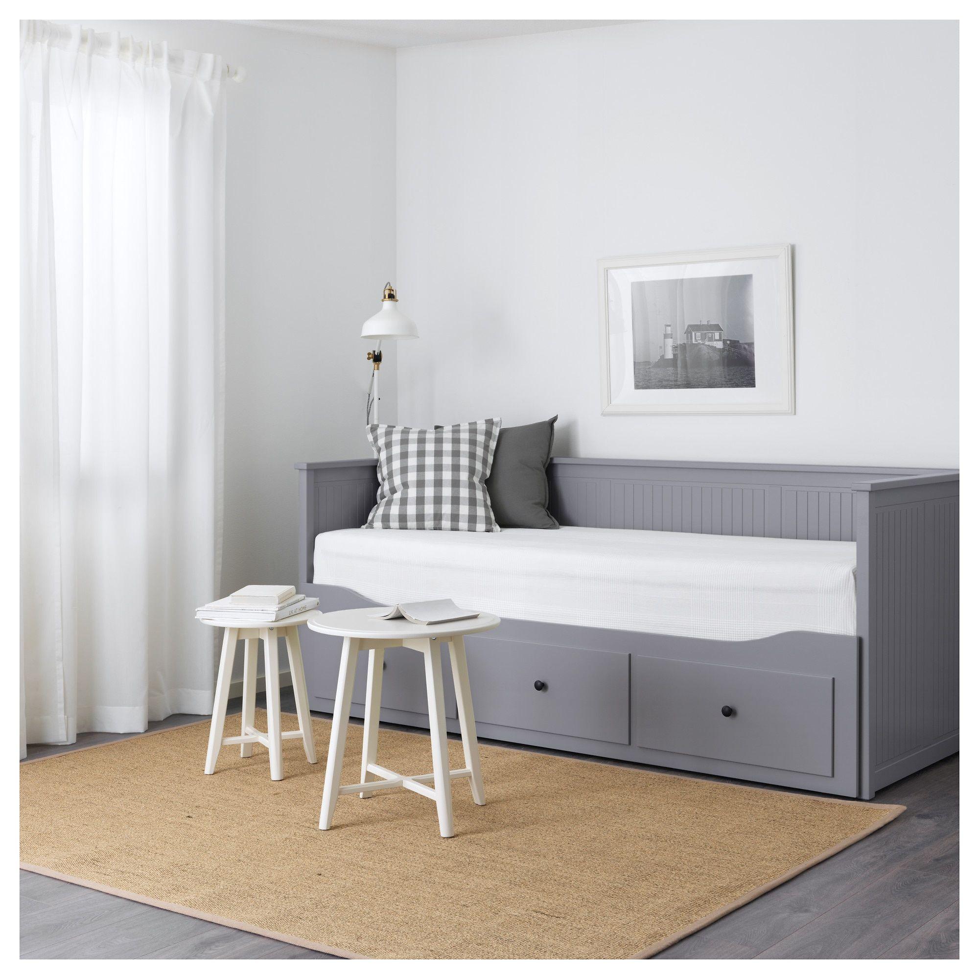 Hemnes Tagesbett 3 Schubladen 2 Matratzen Grau Malfors Fest Bettgestell Bett Mobel Und Ikea Tagesbett