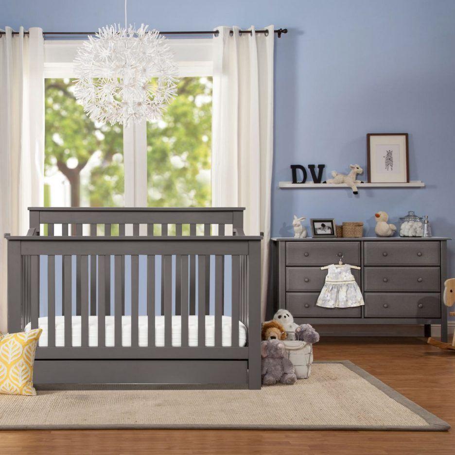 Cool Design Davinci Nursery Room Ideas Featuring Grey Wooden