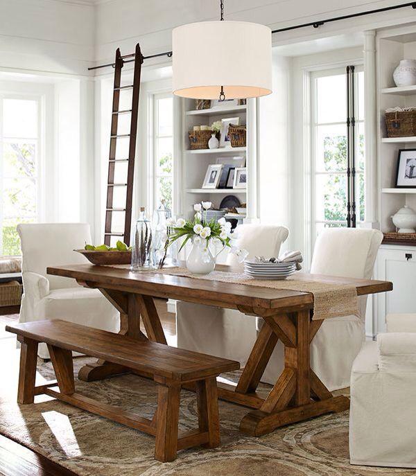 Comedor con banca caoba muebles hogar pinterest for Comedor con banca