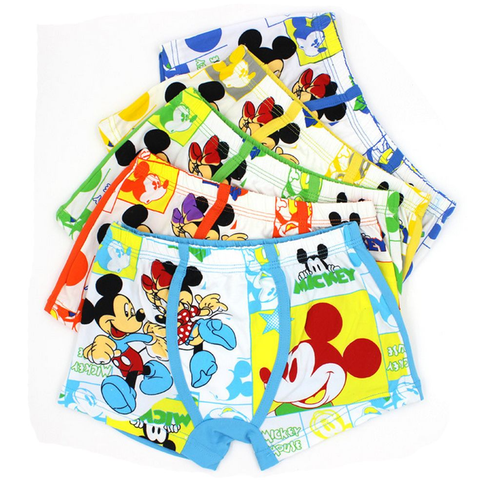 1pcs mickey cartoon Children boy cotton underwear Boxer shorts kids gifts