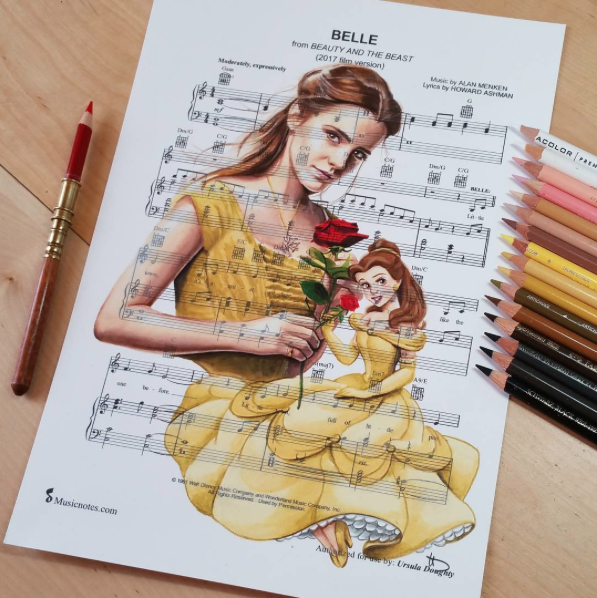 Beauty And The Beast Sheet Music With Lyrics: Belle [feat. Belle & Emma Watson As Belle] (Music