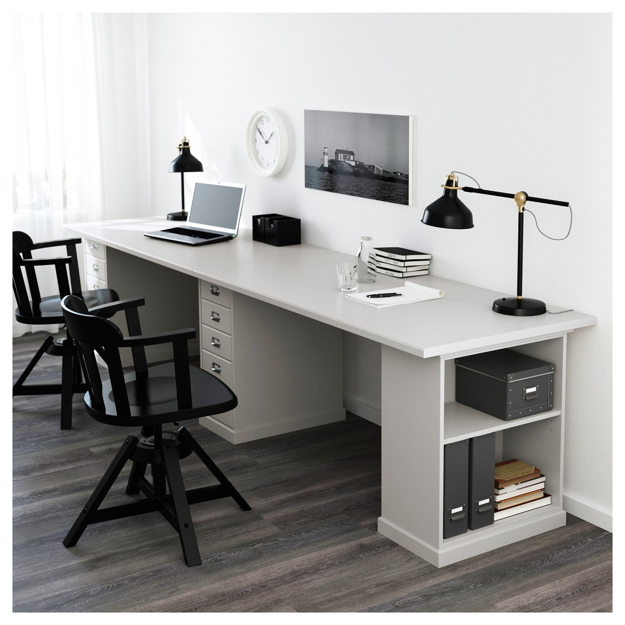 ikea klimpen light grey desk