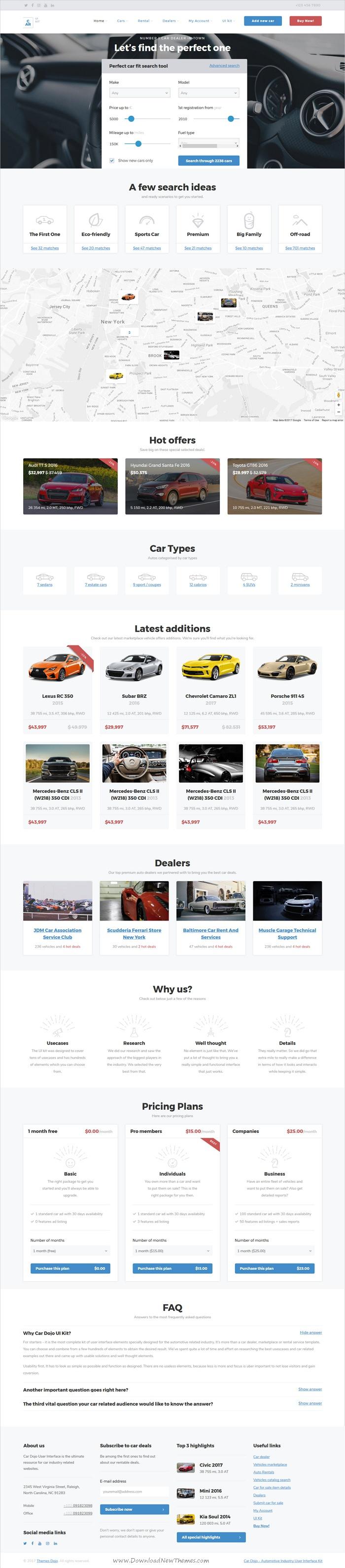 Car Dojo - The Ultimate Auto Dealers Marketplace & Rental Parks HTML ...
