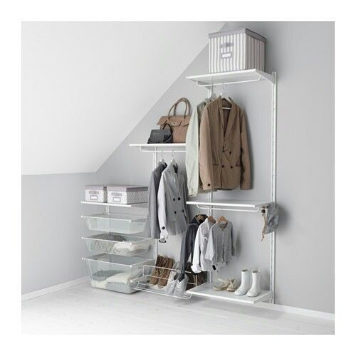 Wall storage for slanted celings.