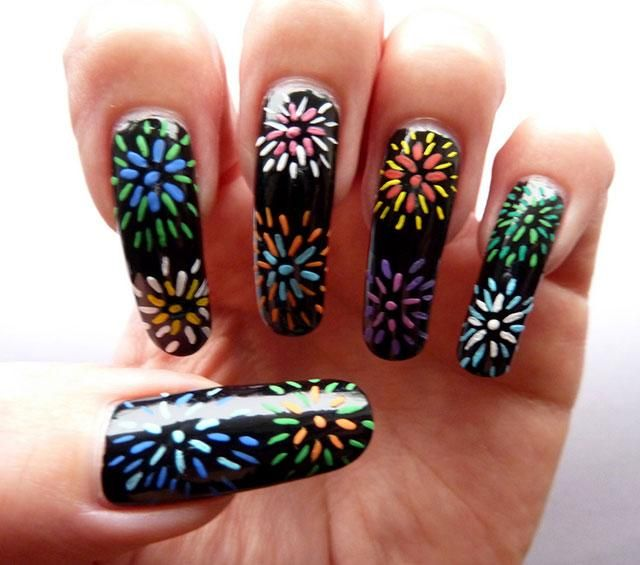 Cute Fireworks Nail Art Designs for Long Nails - Cute Fireworks Nail Art Designs For Long Nails Nail Designs