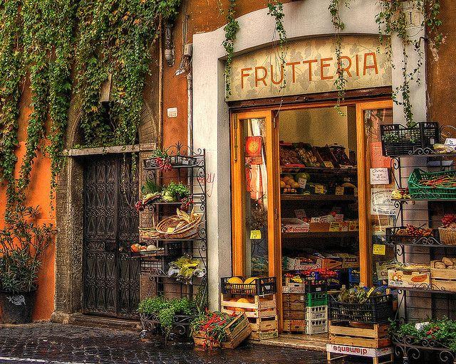 Market In Trastevere, Italy