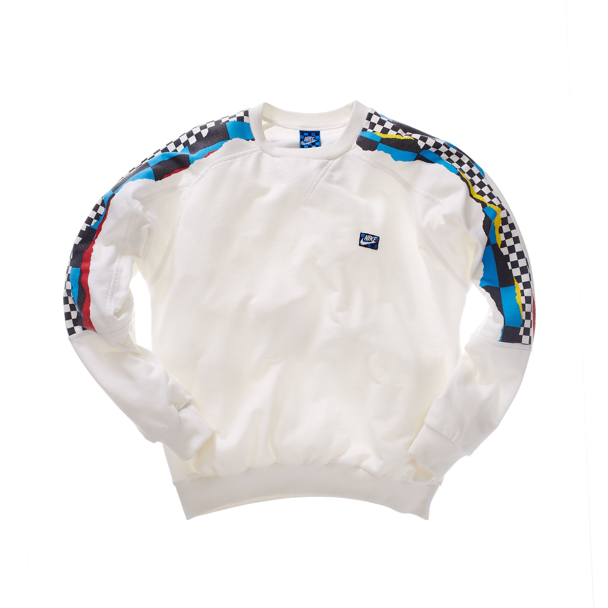 Nike Mcenroe Sweatshirt With Checkered Arm Stripes 1990s How To Wear Sweatshirts Fashion [ 2000 x 2000 Pixel ]