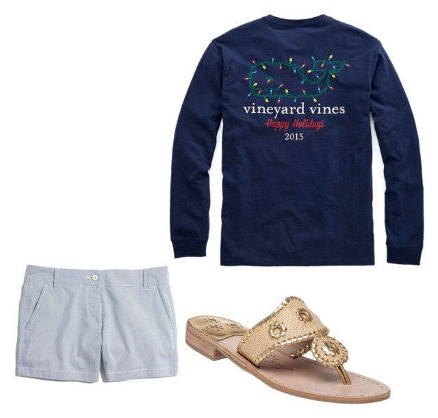 """""""Warm Christmas outfit!"""" by anna-hearne ❤ liked on Polyvore featuring Jack Rogers, Vineyard Vines and Madewell"""
