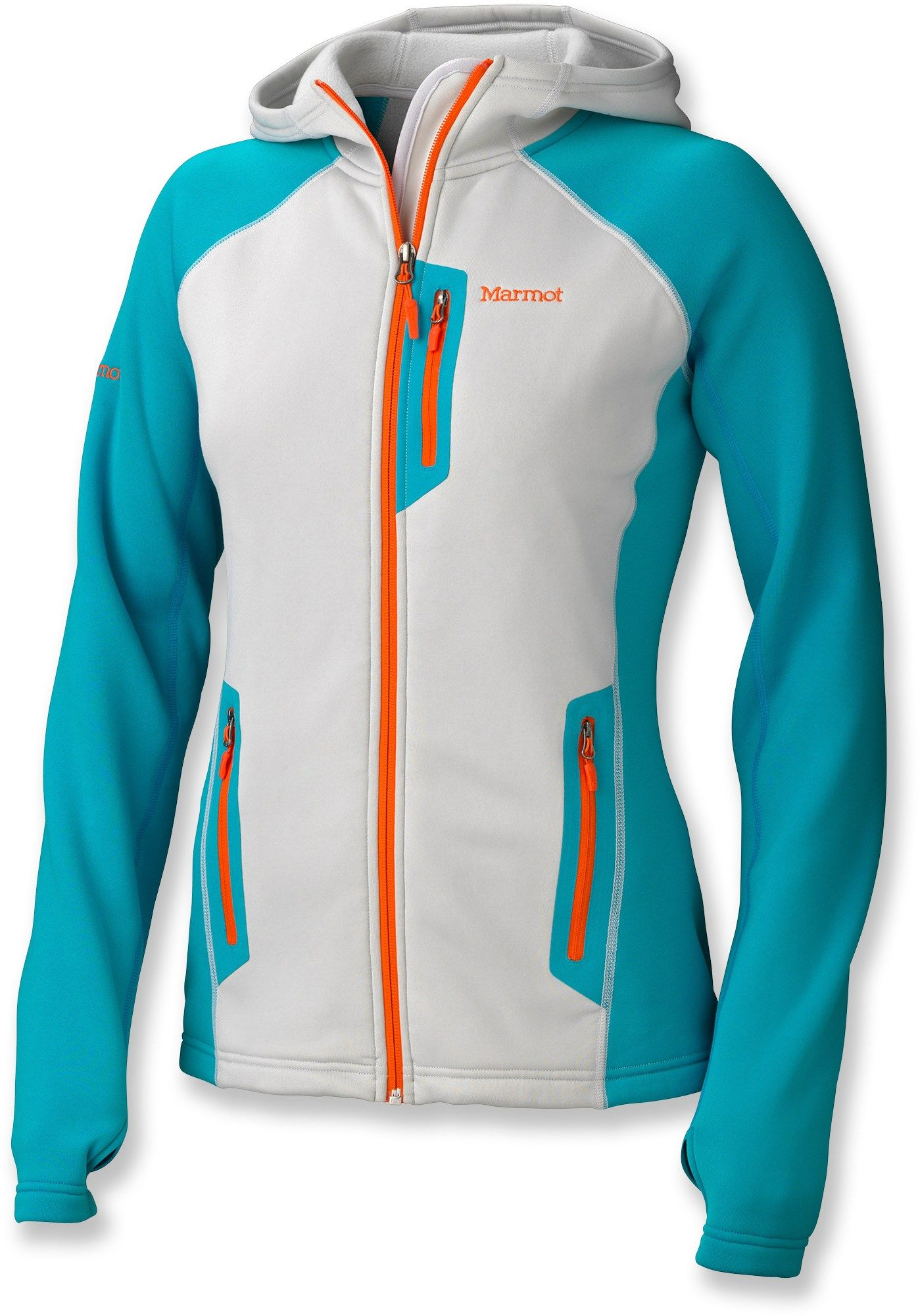 The Marmot Power Stretch Hoodie Is Made Of Warm Breathable Polartec Power Stretch To Keep You Comfortable When Running Hoodies Womens Hoodies Running Jacket [ 2000 x 1396 Pixel ]