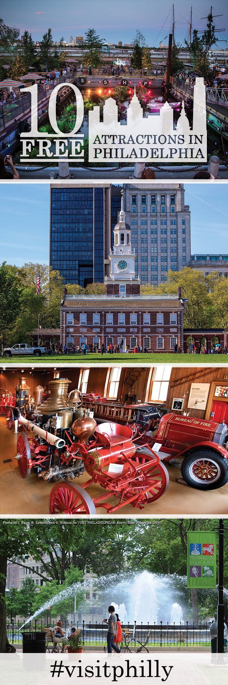 Top Free Attractions in Philadelphia Popular places to