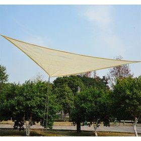 toldo vela sombrilla parasol triangulo hdpe 160gm2 jardin playa camping sombra color crema - Toldo Vela Rectangular