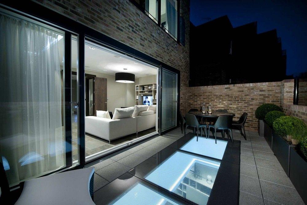 Beloopbaar glas in dakterras haute decor