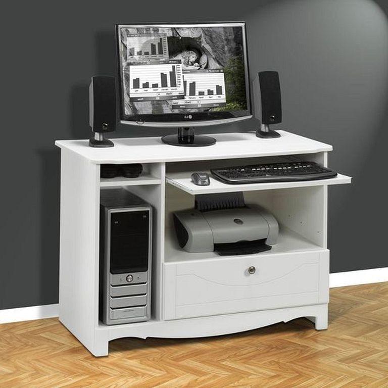 21 Top Modern Computer Desk Designs In White Color Page 9 Of 23 In 2020 Modern Computer Desk Computer Desk Design Desk Design