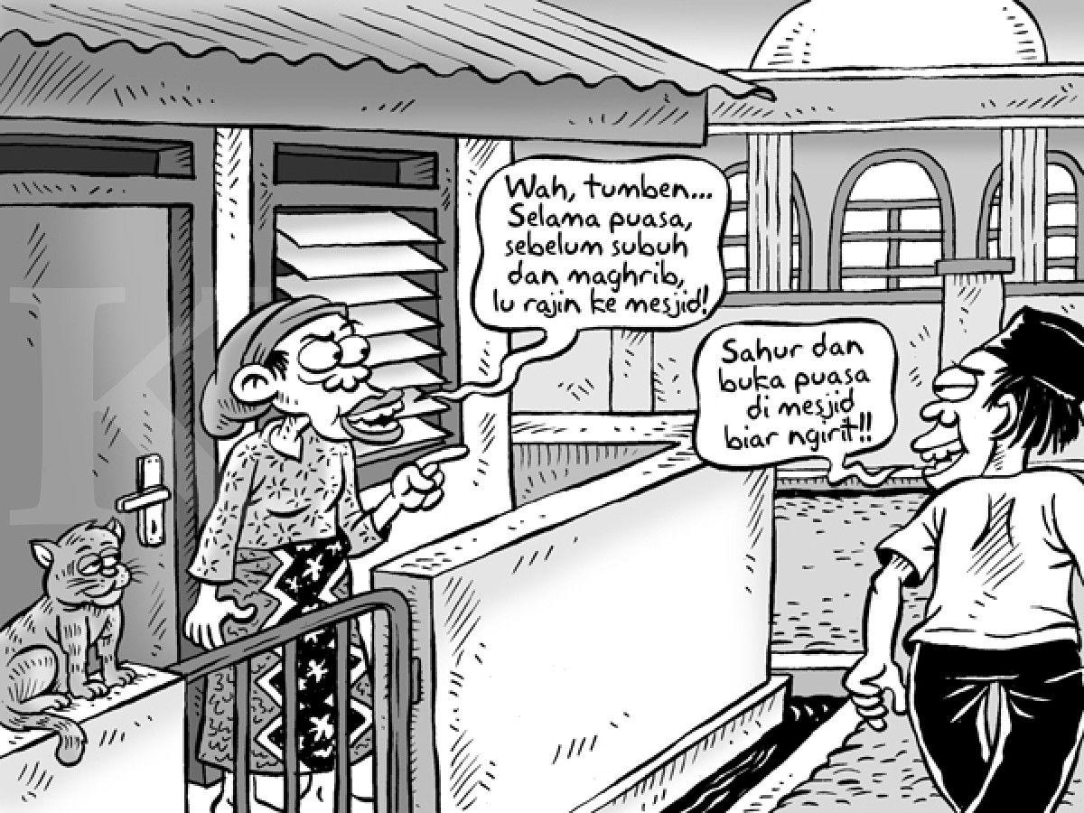 Kartun Benny Kontan Sahur Dan Buka Puasa Di Masjid Benny Mice