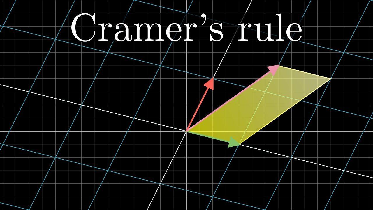 Cramers rule explained geometrically essence of linear