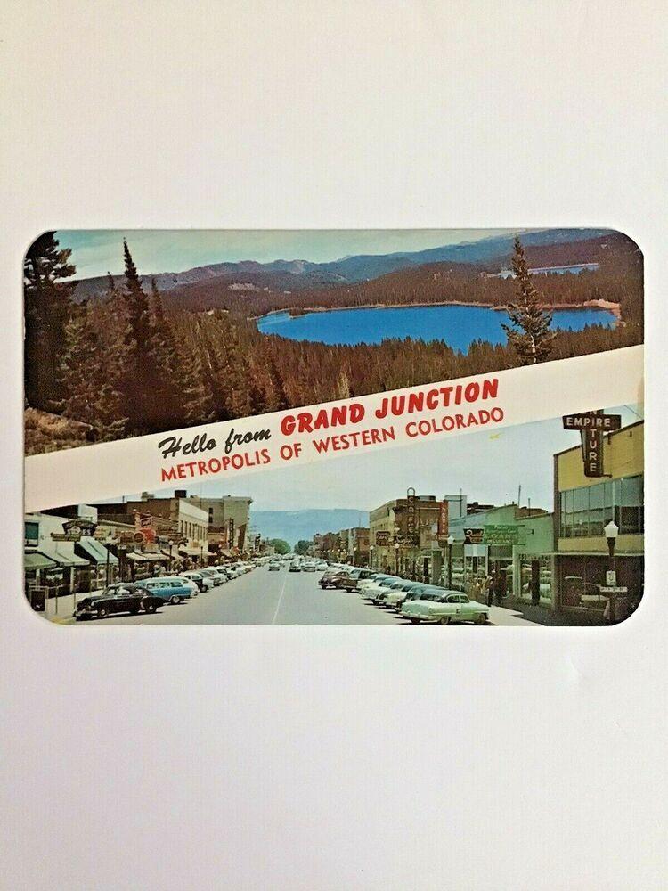 Grand Junction, Colorado Postcard Street Scene Cars Book