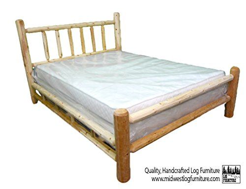 Midwest Log Furniture - Queen Northern White Cedar Log Bed - http ...