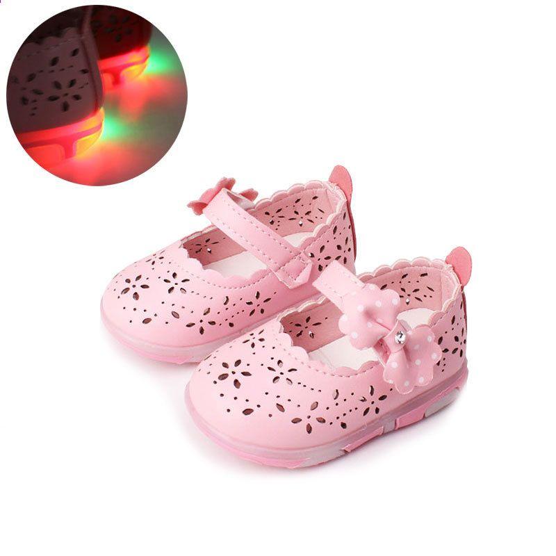 Kids Boys · Leather Shoes · बेबी गर्ल्स चमड़े के जूते राजकुमारी तितली-गाँठ  नरम Toddlers बच्चों ... cc3906b406c7