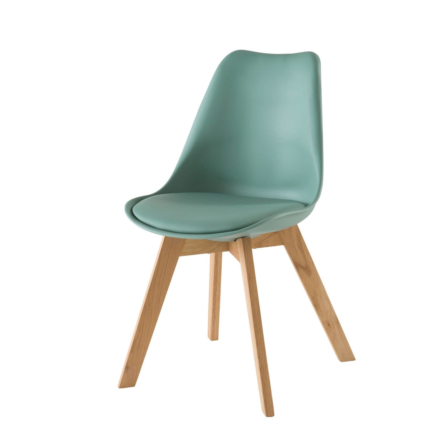 Aqua Scandinavian Style Chair With Solid Oak Maisons Du Monde Silla Escandinava Roble Macizo Silla Aguamarina