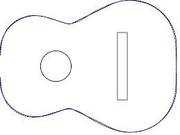 Image Result For Acoustic Guitar Cake Template Guitar Cake