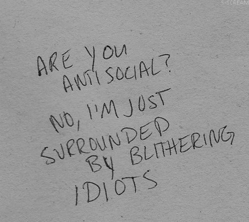 ANTISOCIAL words