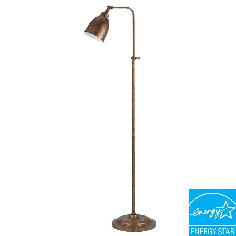 Cal Lighting 62 In Rust Metal Adjustable Pharmacy Floor Lamp Bo 2032fl Ru The Home Depot Pharmacy Floor Lamp Cal Lighting Metal Lamp Shade